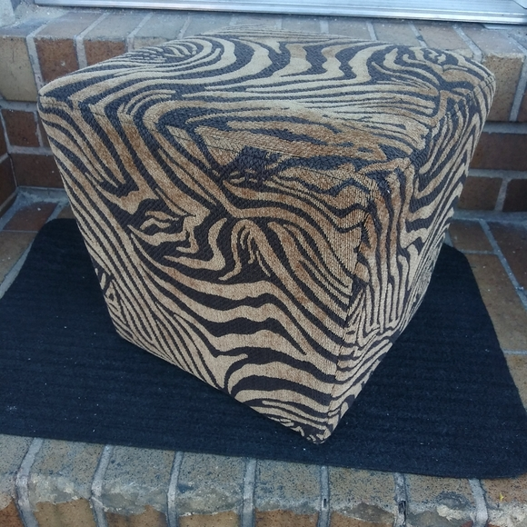 Other - Zebra Print Foot Stool
